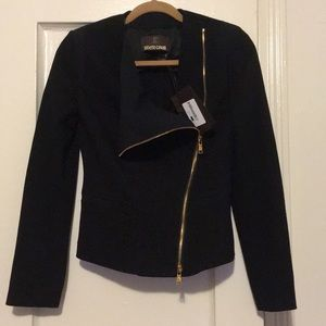 Authentic NWT knit black Roberto Cavalli jacket